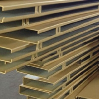 售楼部异形铝方通吊顶材料规格定制厂家