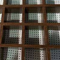 铝格栅 仿木纹条形铝格栅装饰吊顶