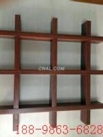 供应铝格栅 木纹条形铝格栅装饰吊顶