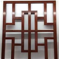 专业木纹铝窗花厂家 造型木纹铝窗花