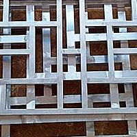 文明园木纹铝窗花价钱-方管型材仿古铝窗花