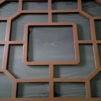 格子铝合金铝木纹铝窗花生产厂家