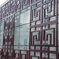 外墙幕墙木纹铝窗花最新产品