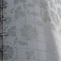 弯曲造型铝单板铝幕墙弧形铝单板