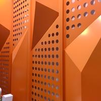 木纹幕墙铝单板装饰餐饮店雕花铝屏风装饰