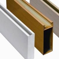訂制木紋鋁方通轉印凹凸型U槽弧形鋁方通