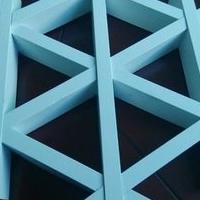 广州地铁站组合式三角板材铝格栅吊顶天花