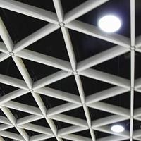 地铁站三角铝格栅吊顶 三角格栅多少钱一平
