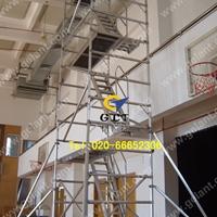 双宽45度斜爬梯式铝合金脚手架出租出售