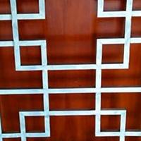楼梯扶手四方管铝花格-古色铝窗花定制厂家