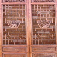 复古木纹铝窗格价格-港式铝合金窗花厂家