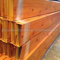 厂家直销铝型材方管仿木纹铝方通