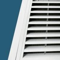 厂家批发铝合金门铰式固定回风带防尘网