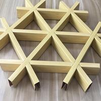 地铁吊顶用三角形铝格栅 六边形铝格栅
