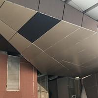 供应门头造型铝单板_钻石面异形铝单板