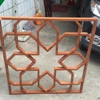 中式仿木铝合金窗花-广东中式铝窗花格厂家