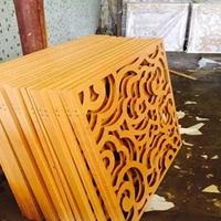 木纹艺术格栅铝窗花阻遏