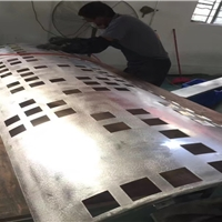 直销冲孔雕刻外墙铝单板_圆弧包柱铝单板
