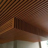 木纹色铝方通工厂直销 铝方通吊顶天花 木纹