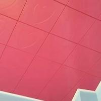 300300mm枚红色铝方板 铝扣板