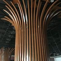外墙铝方通安装节点图 木纹型材铝通