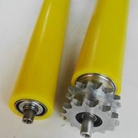 鋁合金橡膠滾筒無動力包膠滾筒PU膠輥筒輪