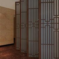 古典韵味木色冰裂纹铝花格装饰型材