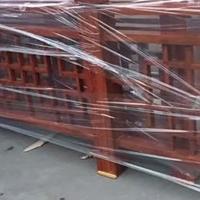木纹色铝合金护栏定制价格