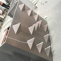 墻面_墻體_墻壁煙灰色帶尖鋁單板_凹凸型