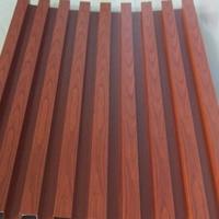 安裝簡易高貴典雅學校木紋鋁方通天花吊頂