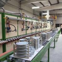 燃气式陶瓷烤花炉生产线 碗盘烤花设备