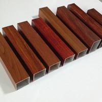 各规格铝方管批发货期快 木纹铝方管定制