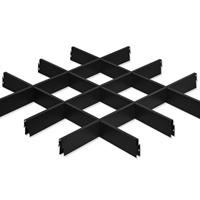 黑色铝格栅 黑色垂片吊顶  格栅铝天花