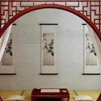 立面墙装饰中式铝窗花