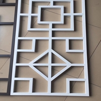 江門外墻木紋鋁窗花供應商 方通鋁窗花裝飾