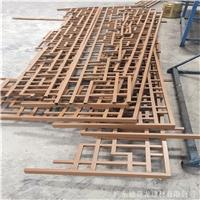仿木纹铝花格中式铝管焊接铝窗花。