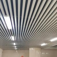 U槽掛片鋁方通,50x100木紋鋁方通天花