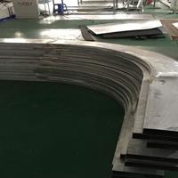铝管定制 弧形铝方管型材 弯弧铝扁管批发