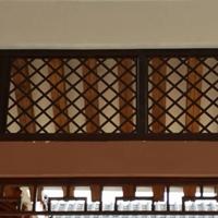 山东铝合金窗花-外墙热转印木纹铝窗花