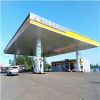 加油站包柱铝圆角装饰效果美观实用