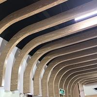 木紋型材彎弧鋁方通 造型鋁單板方通定制