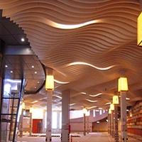 木纹弧形铝方通_室内装饰造型铝方通