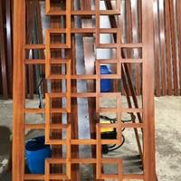 铝合金木纹铝窗花_型材焊接热转印木纹窗花