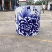 蓝天白云打印幕墙青花瓷铝单板专业厂家