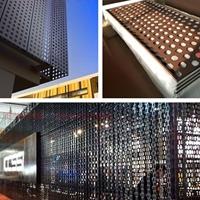 幕墻沖孔鋁板網裝飾-長城鋁單板