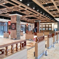 展览中心铝窗花铝板铝花格厂家