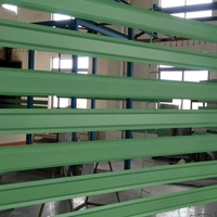 商场吊顶装饰W型7字铝挂片 绿色烤漆