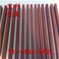 热销6061木纹热转印铝方管 200x200铝方通