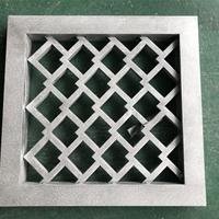 时尚V型铝窗花_复古铝花格_木纹铝板订购