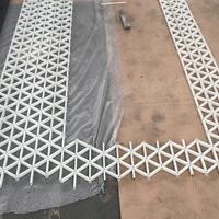 白色烤漆六边形铝格栅 型材铝方通